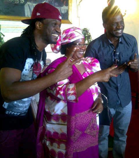 Psquare-with-Malawi-president-Joyce-Banda YNaija